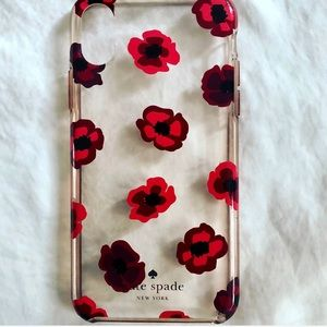 Kate♠️ Red Poppy iPhoneX Case